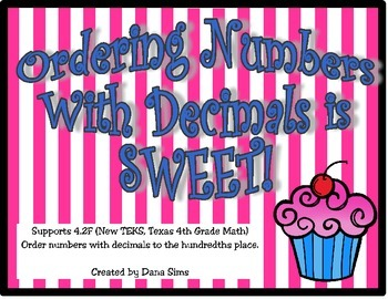 Ordering Numbers With Decimals to the Hundredths Place: 4th Grade Math TEKS