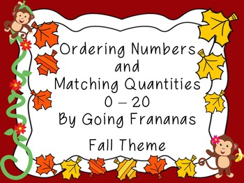 Ordering Numbers and Match Quantities Fall Theme