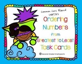 Ordering Numbers from Greatest to Least Task Cards
