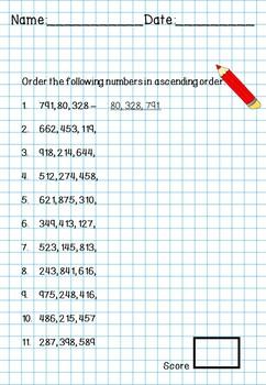 Ordering Numbers in Ascending Order