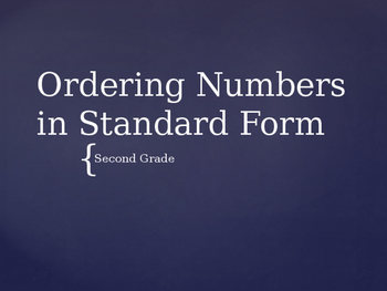 Ordering Numbers in Different Forms