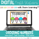 Ordering Numbers l Task Cards | Boom Cards™