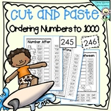 Ordering Numbers to 1,000 (One Thousand) Cut and Paste Math Worksheets