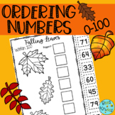 Ordering Numbers to 100 | Fall Cut & Paste Worksheets