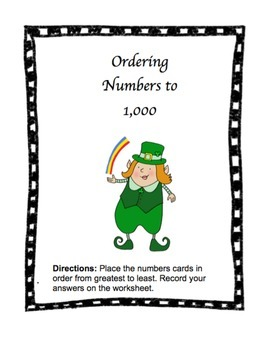 Ordering Numbers to 1,000 : St. Patrick's Day Theme!