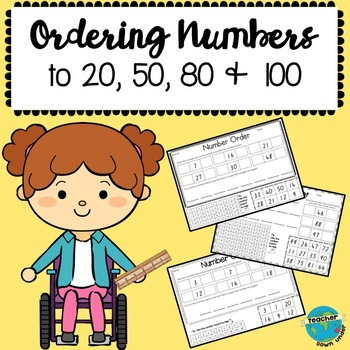 Ordering Numbers to 20, 50, 80 & 100