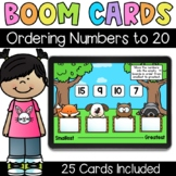 Ordering Numbers to 20 - Digital Task Cards - Boom Cards