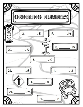 Ordering Numbers to 30