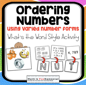 Numbers in the millions teaching resources teachers pay teachers nbt ordering numbers to the millions activity whats the word style 4 nbt fandeluxe Image collections