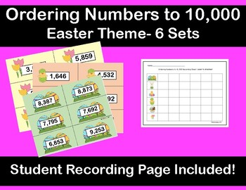 Ordering Numbers up to 10,000 Easter Theme- Hands on Activity