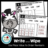 Ordering Numbers using Place Value Task Cards