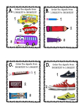 Ordering Objects- Shortest to Longest/Longest to Shortest