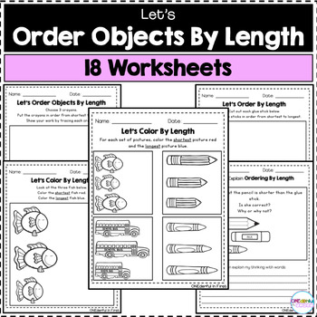 Ordering By Length - 18 Worksheets