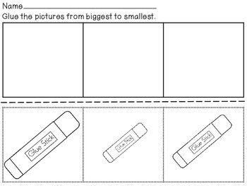 Ordering Objects By Size-Kinder Math Station