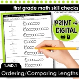 Ordering Objects by Length - First Grade Print and Go