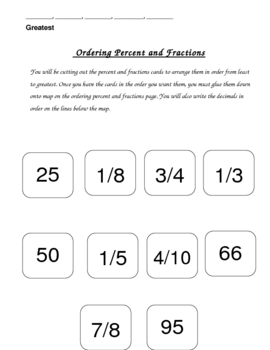 Ordering Percent and Fractions from Least to Greatest