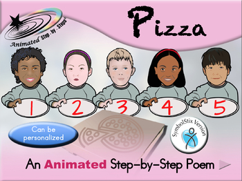 Ordering Pizza - Animated Step-by-Step Poem SymbolStix