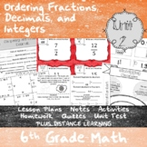 Ordering Rational Numbers - (6th Grade Math TEKS 6.2A, 6.2C, 6.2D, & 6.4G))