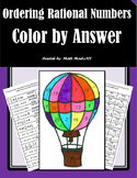 Ordering Rational Numbers - Color by Answer