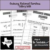 Ordering Rational Numbers Gallery Walk (STAAR Test Prep / 6.2D)