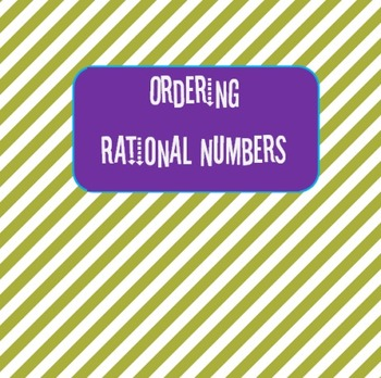 Ordering Rational Numbers (Game)
