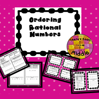 Ordering Rational Numbers - Math Stations TEKS 6.2c, 6.2d, 6.4g