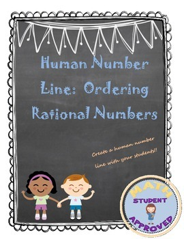 Ordering Rational Numbers, Numbers on a number line Activity