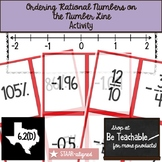 Ordering Rational Numbers on a Number Line (STAAR Test Prep / 6.2D)