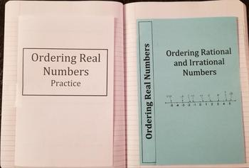 Ordering Rational and Irrational Numbers (Foldables)