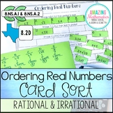 Ordering Real Numbers Activity (Rational and Irrational)