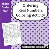 Ordering Real Numbers Coloring Activity (8.2D)