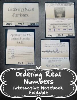 Ordering Real Numbers INB TEKS 8.2D