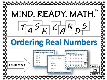 Ordering Real Numbers Task Cards