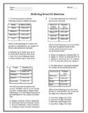 Ordering Scientific Notation