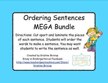 Ordering Sentences MEGA Bundle