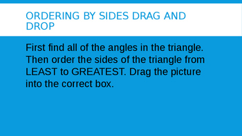 Ordering Sides of a Triangle Given Angles Drag and Drop