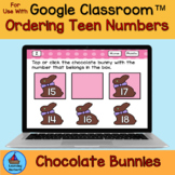 Ordering Teen Numbers Before After and Between Chocolate E