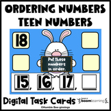 Ordering Teen Numbers Boom Cards™ for Distance Learning