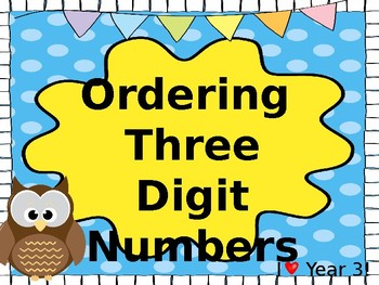 Ordering Three Digit Numbers