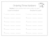 Ordering Three Numbers Card Game