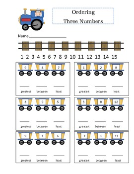 Ordering Three Numbers on the Railroad