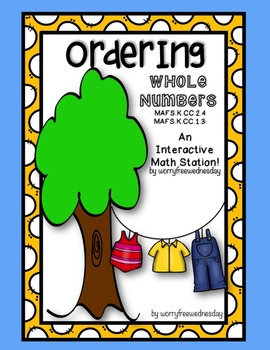 Ordering Whole Numbers Activity (0-25)