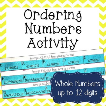 Ordering Whole Numbers