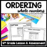 FREEBIE: Ordering Whole Numbers: 8-Page Practice Packet & Exit Quiz, 4.NBT.2