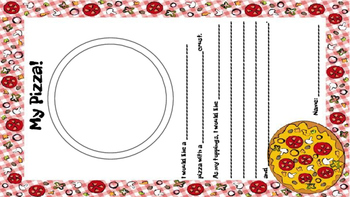 Ordering a Pizza Reading and Writing Center Activity
