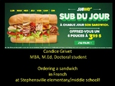Ordering a sandwich in French!