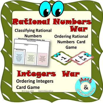 Ordering and Classifying Rational Numbers - Ordering Integers