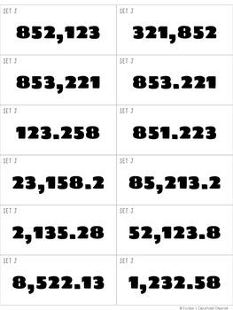 Ordering and Comparing Decimals