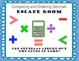 Ordering and Comparing Decimals Breakout Escape Room No Prep Print and Go