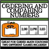 Ordering and Comparing Numbers - Games for Guided Math Stations